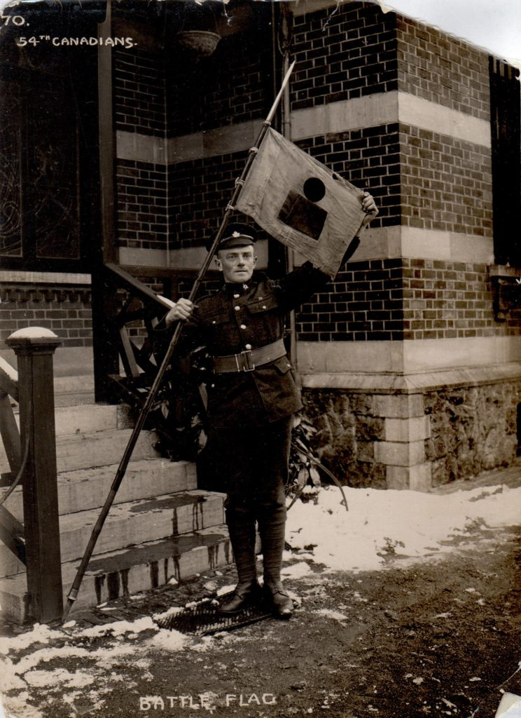 Battalion Flag (Belgium late 1918 / early 1919) Courtesy of Fred Young in Calgary 20 Feb 2020