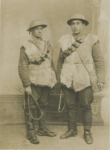 Cecil Tyreman on left & Will Tamboline on right. France 1917 (469x640)